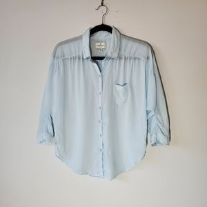 American Eagle Outfitters blue collar shirt